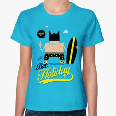 Женская футболка Бэтс на море (фэнарт)