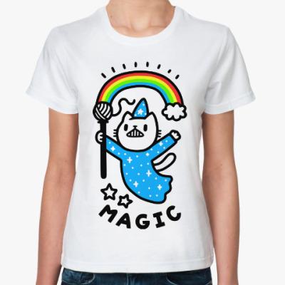 Классическая футболка Кот магия