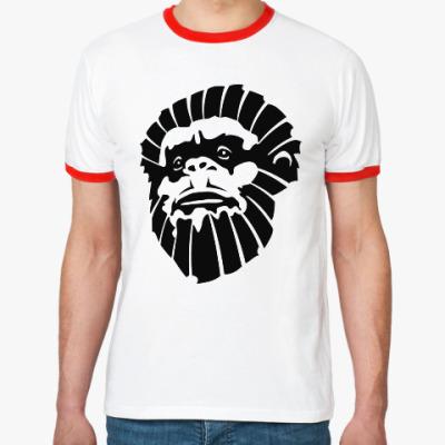 Футболка Ringer-T Лицо обезьяны