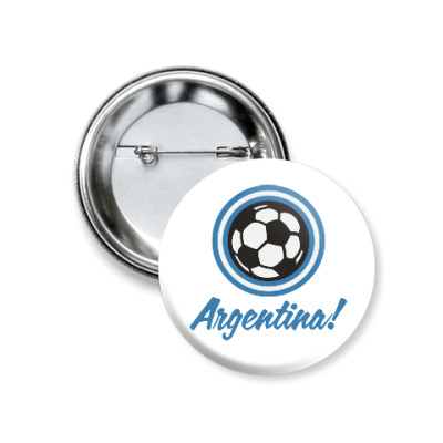 Значок 37мм Аргентина