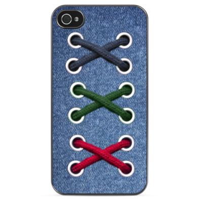 Чехол для iPhone  Jeans vs laces