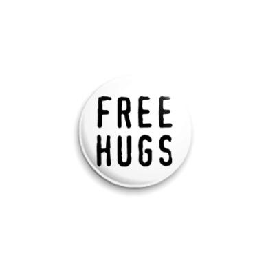 Значок 25мм free hugs
