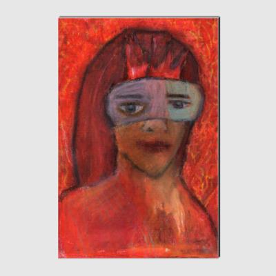 Холст Девушка в маске
