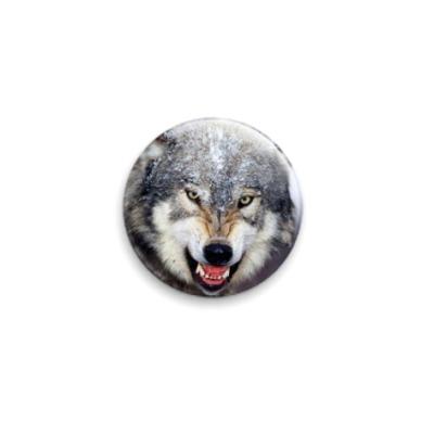 Значок 25мм волк