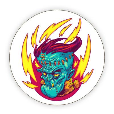 Костер (подставка под кружку) Франкенштейн в огне