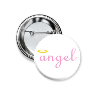 Значок 37мм Ангел