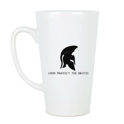 Чашка Латте Gods protect the braves,спарта