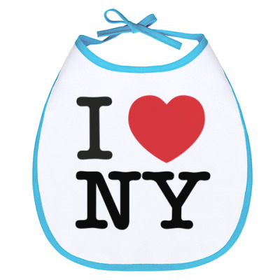 Слюнявчик I love NY