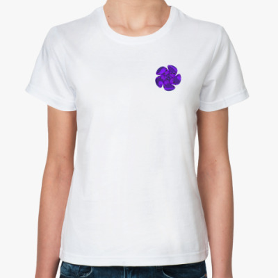Классическая футболка цветок