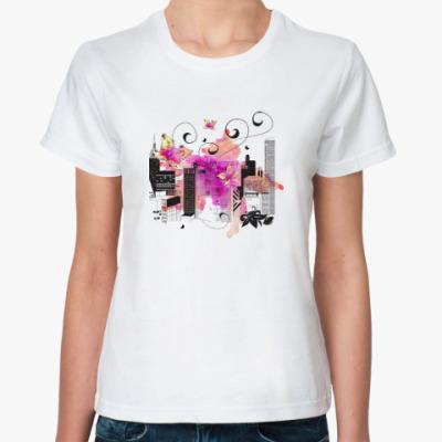 Классическая футболка Городской пейзаж