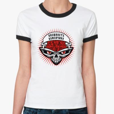 Женская футболка Ringer-T Внешность обманчива