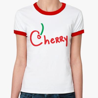 Женская футболка Ringer-T Вишенка