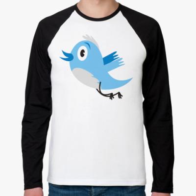 Футболка реглан с длинным рукавом Твиттер