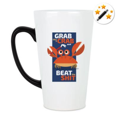 Кружка-хамелеон Grab like a crab
