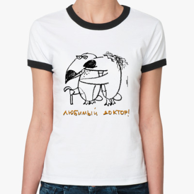 Женская футболка Ringer-T «Доктор»