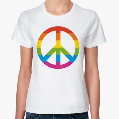 Классическая футболка  Радужный пацифик