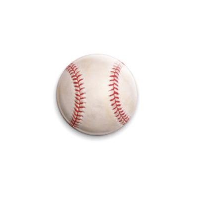 Значок 25мм Бейсбольный мяч