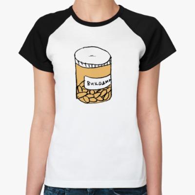 Женская футболка реглан Викодин