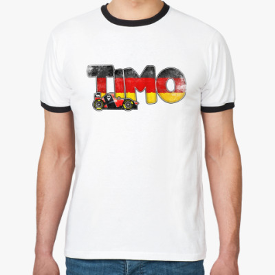 """Футболка Ringer-T """"TIMO""""."""