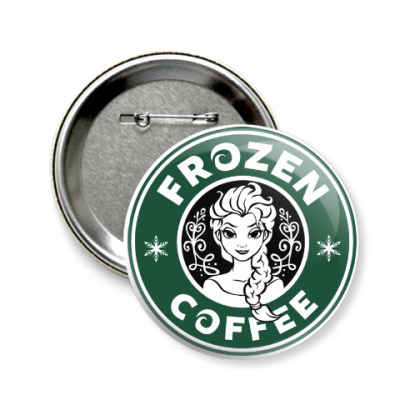 Значок 58мм Frozen coffee