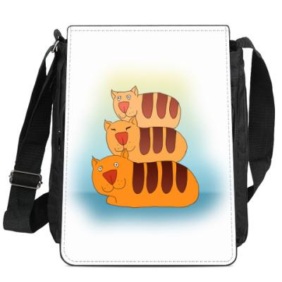 Сумка-планшет Коты-батоны