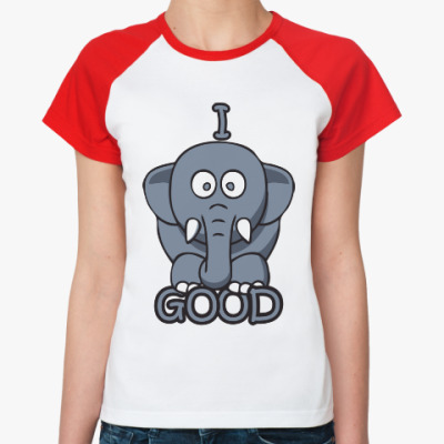 Женская футболка реглан Я хороший