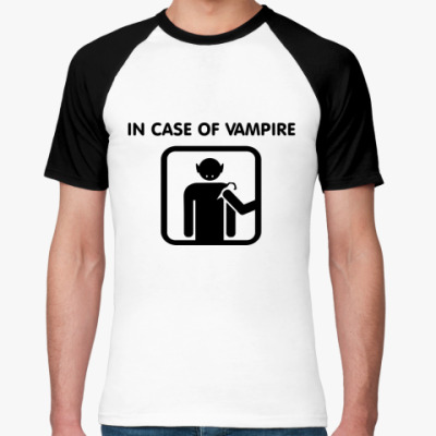 Футболка реглан In Case Of Vampire