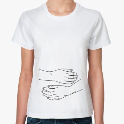 Классическая футболка 'Объятия'
