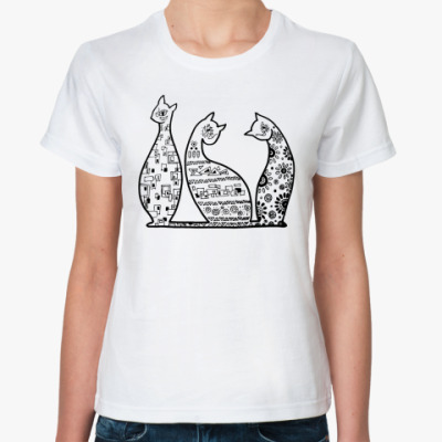 Классическая футболка  Кошечки