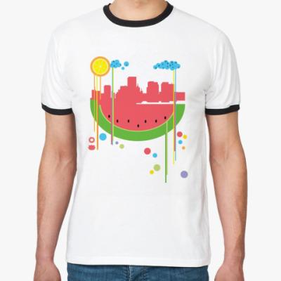 Футболка Ringer-T Арбузный город