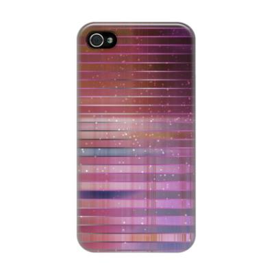 Чехол для iPhone 4/4s Космос в полоску