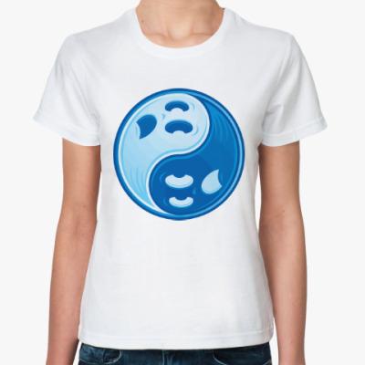 Классическая футболка Инь ян