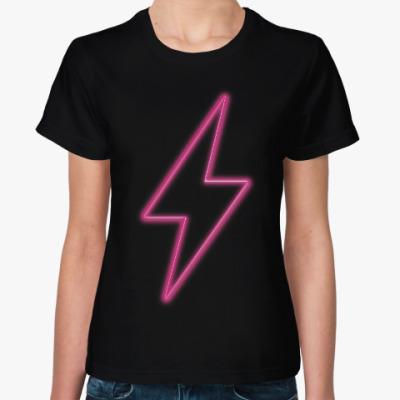 Женская футболка Неоновая молния