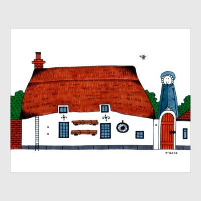 Постер Village house