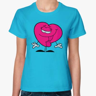 Женская футболка Смешное серце