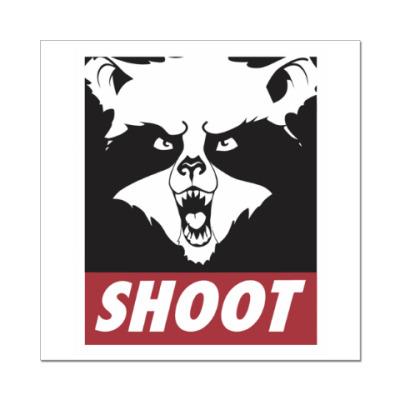 Наклейка (стикер) Raccoon Shoot