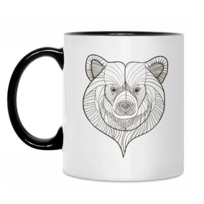 Кружка Голова медведя