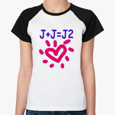 Женская футболка реглан Supernatural Дженсен + Джаред