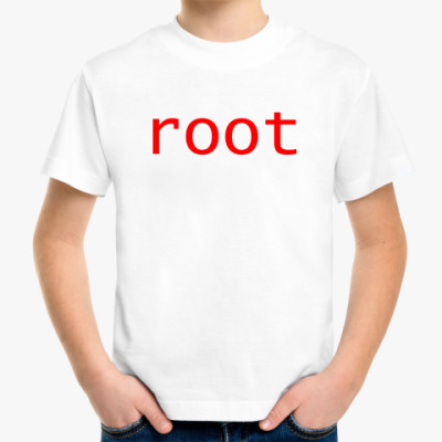 Детская футболка root