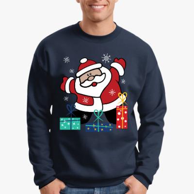 Свитшот Дед Мороз с подарками