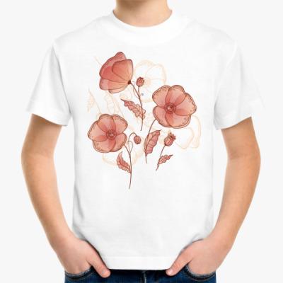 Детская футболка Нежные маки