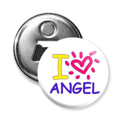 Магнит-открывашка Supernatural - I love Angel