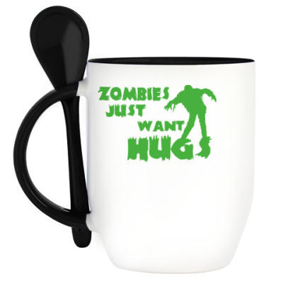 Кружка с ложкой Zombie.