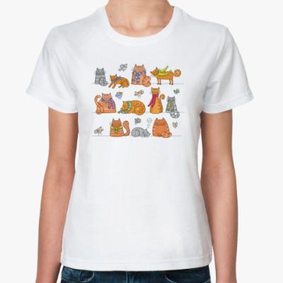 Классическая футболка Котики