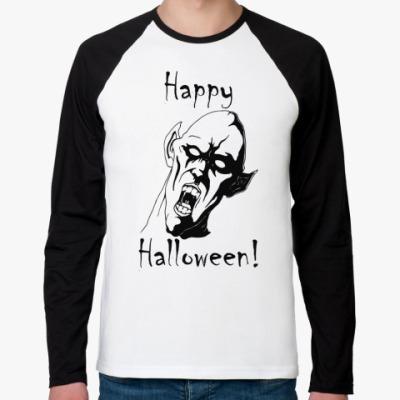 Футболка реглан с длинным рукавом Happy Halloween!