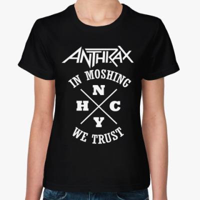 Женская футболка Anthrax
