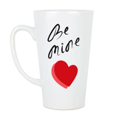 Чашка Латте признание в День Валентина/ Валентинка