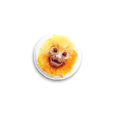 Значок 25мм Обезьянка Golden Lion Tamarin