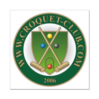 Наклейка (стикер) Croquet-Club.Com