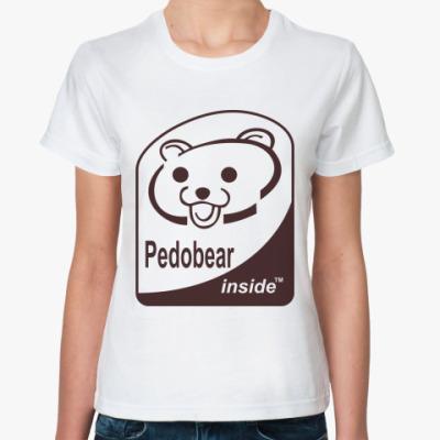 Классическая футболка Pedobear inside